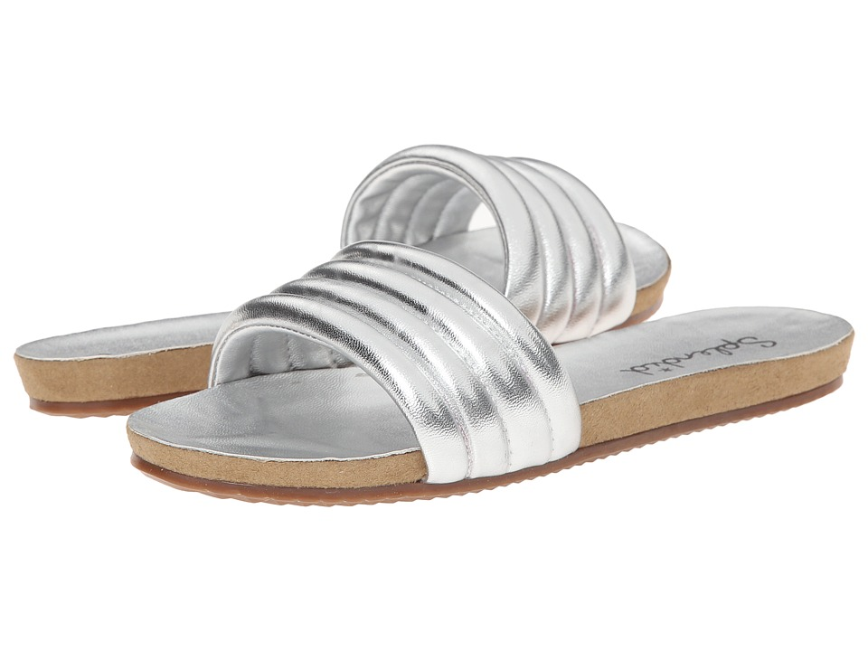 Splendid - Tysan (Silver Soft Metallic) Women's Slide Shoes