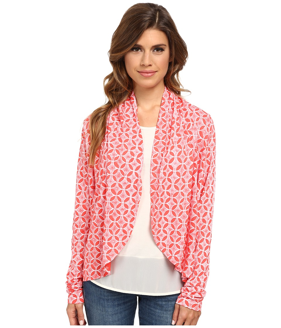 Fresh Produce - Circle Coast Bliss Cardigan (Red Coral) Women