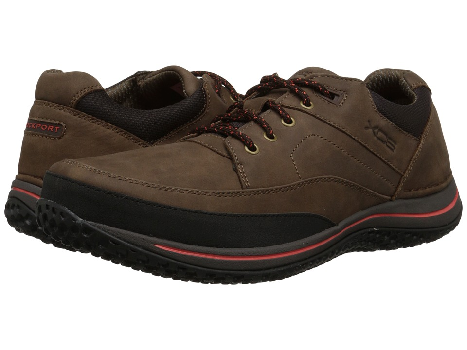 Rockport - Walk360 Walking Mudguard Oxford (Brown/Cherry Tomato) Men's Shoes