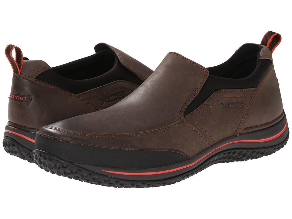 Rockport - Walk360 Walking Stretch Slip-On (Dark Bitter Chocolate) Men