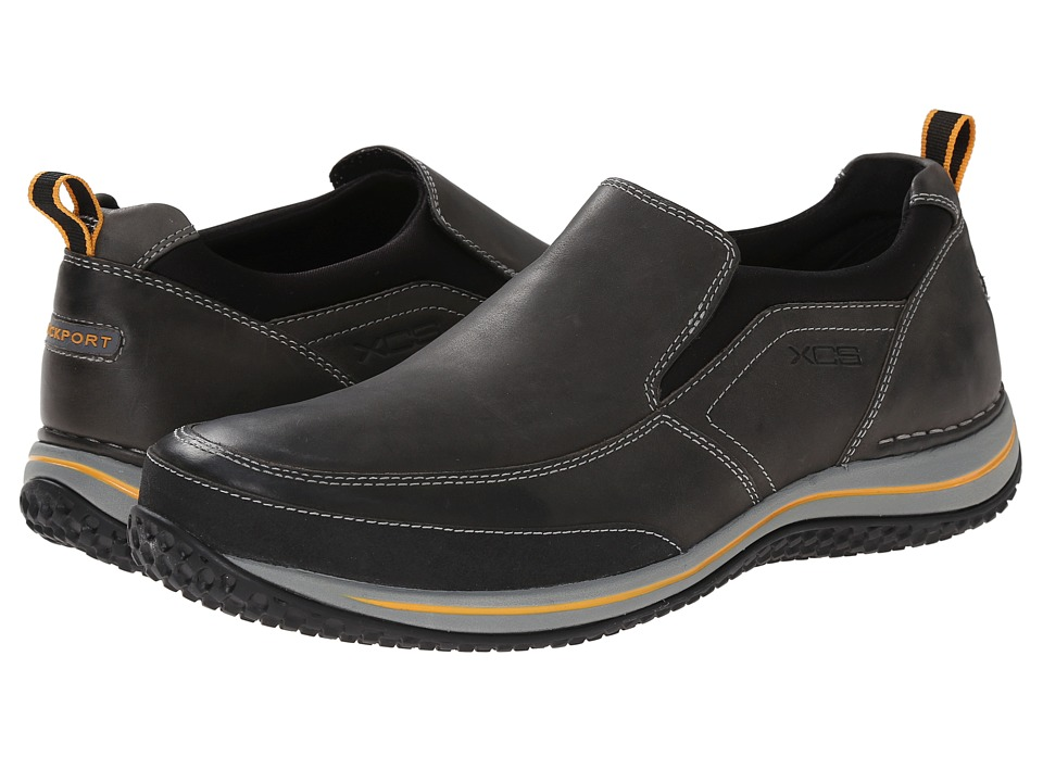 Rockport - Walk360 Walking Stretch Slip-On (Castlerock/Cherry Tomato) Men's Slip on Shoes
