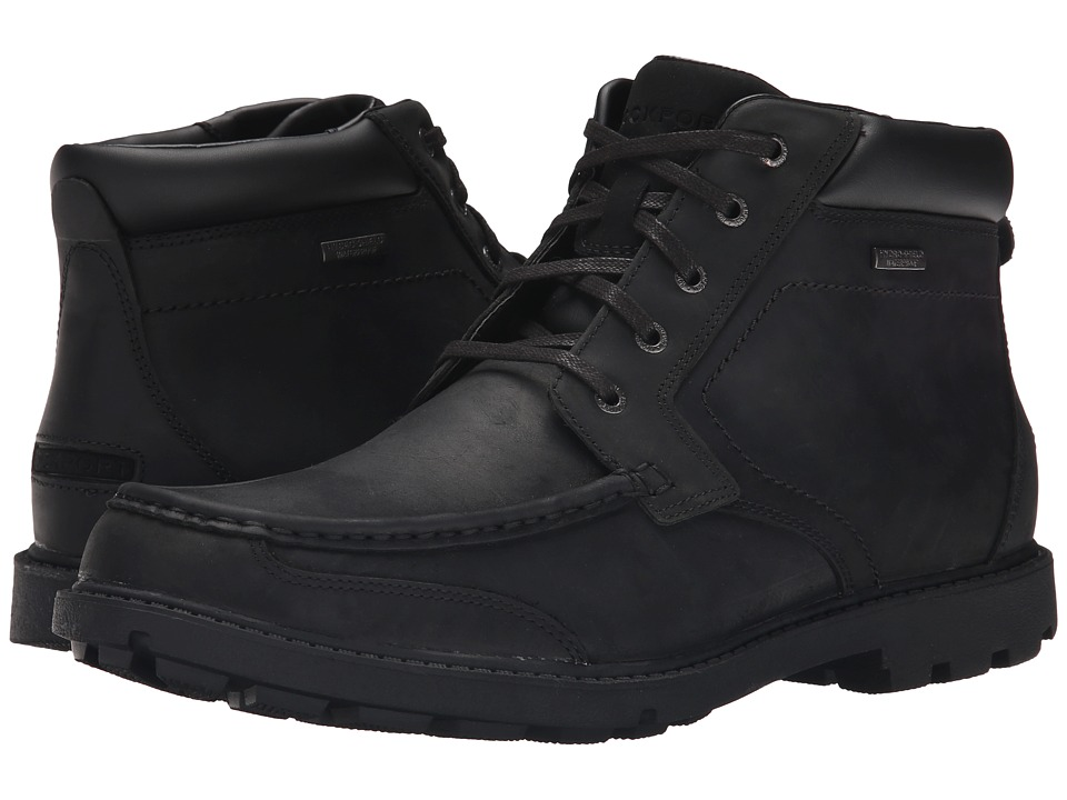Rockport - Rugged Bucks Moc Boot Waterproof (Black II) Men's Shoes
