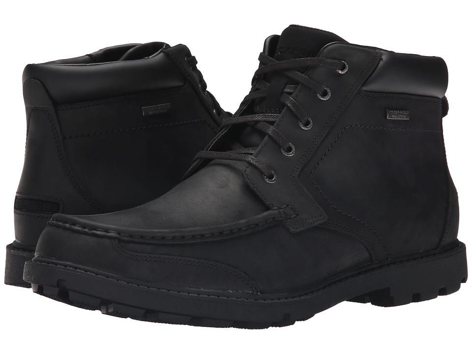 Rockport Rugged Bucks Moc Boot Waterproof (Black II) Men