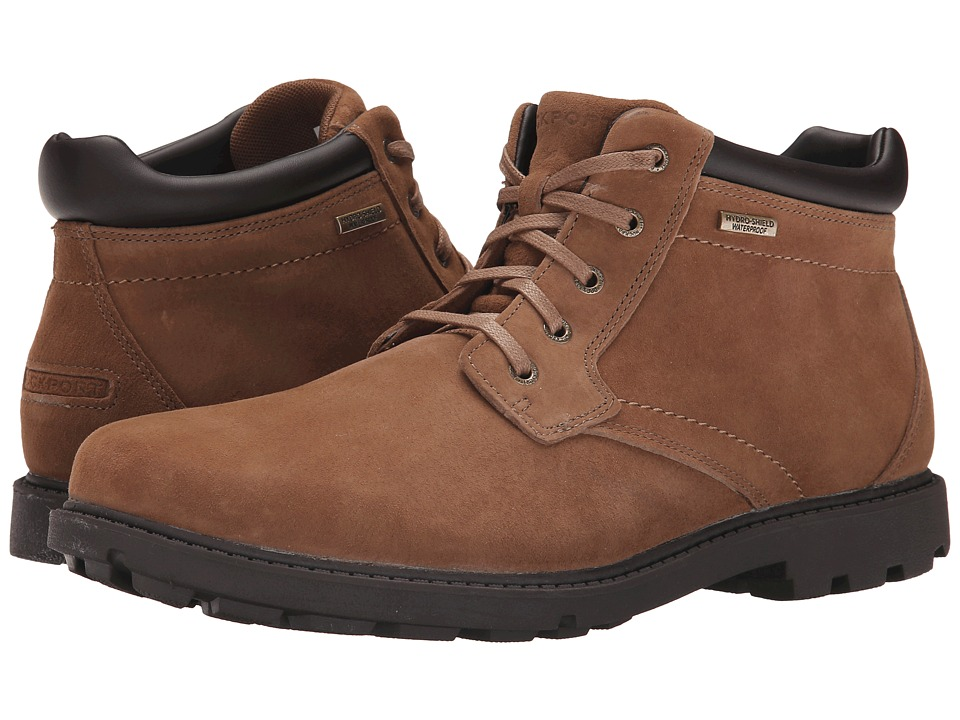 Rockport Rugged Bucks Waterproof Boot (Espresso Nubuck) Men