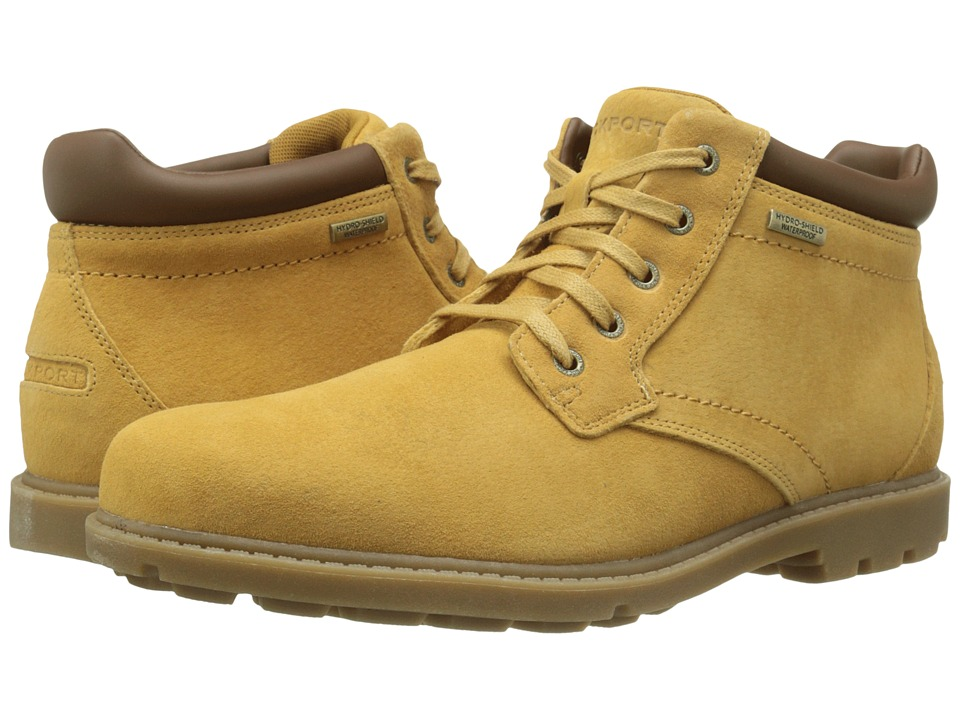 Rockport Rugged Bucks Waterproof Boot (Tan Suede) Men