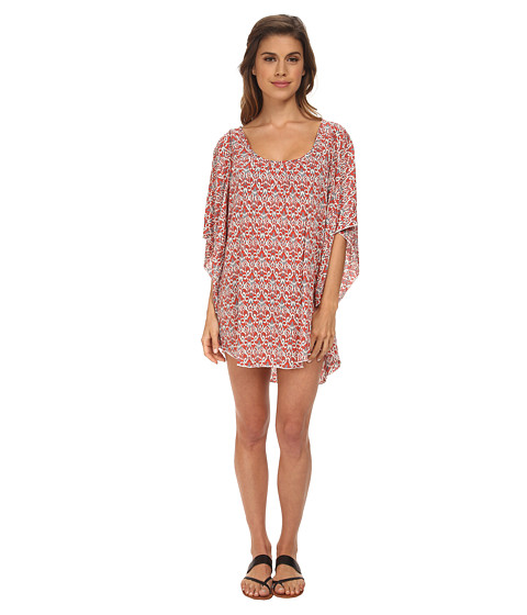 Eberjey - Wild Tribe Clara Cover-Up (Paprika/Lead) Women