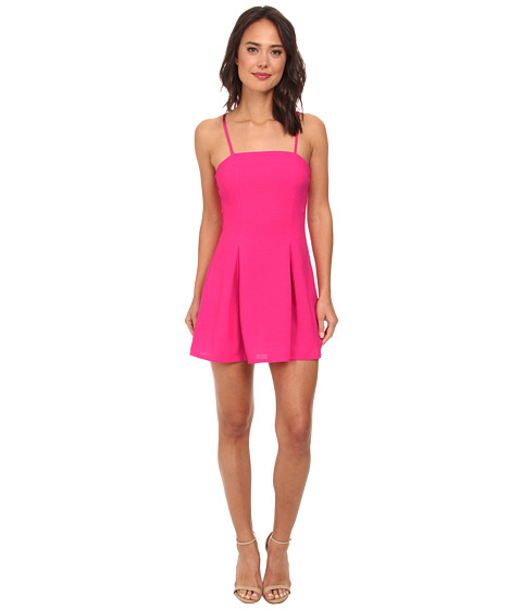 Gabriella Rocha - Crepe Slip Fit Flare Dress (Hot Pink) Women's Dress
