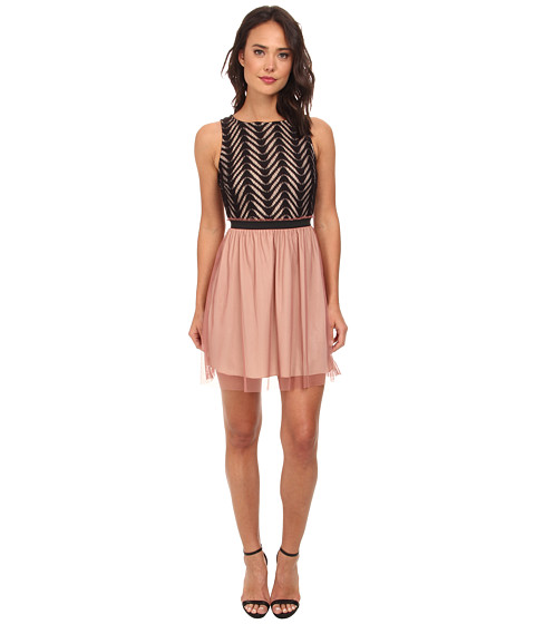 Gabriella Rocha - Jamie Lace Tulle Dress (Rose/Black) Women