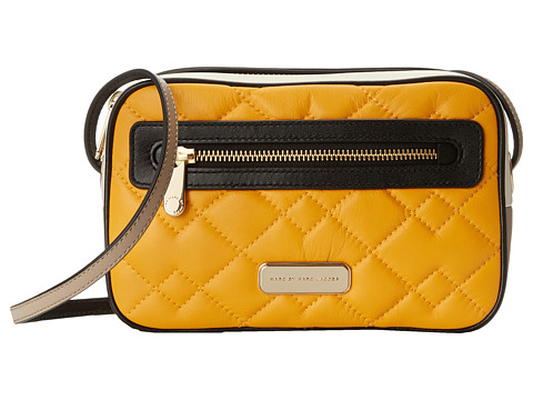 Marc by Marc Jacobs - Sally Moto Quilted Handbag (Sundance Orange Multi) Handbags