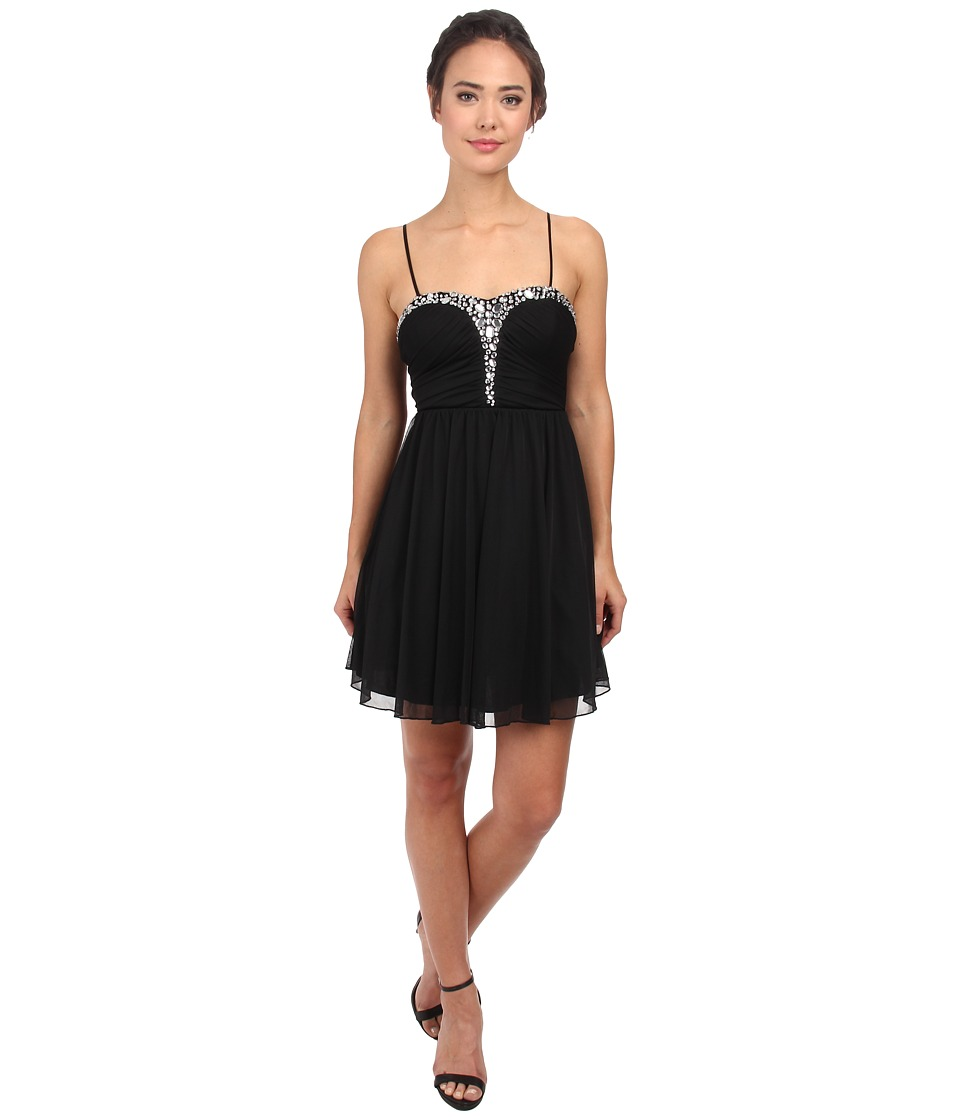 Alejandra Sky - Rhinestone Bustier Dress (Black) Women's Dress