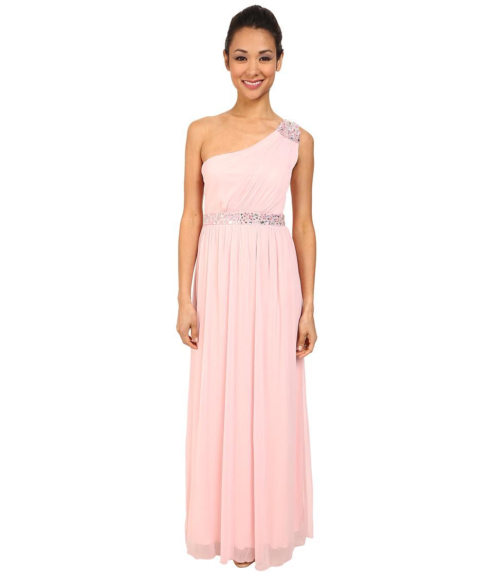 Alejandra Sky - Sheer Matte One-Shoulder Dress (Baby Pink) Women's Dress