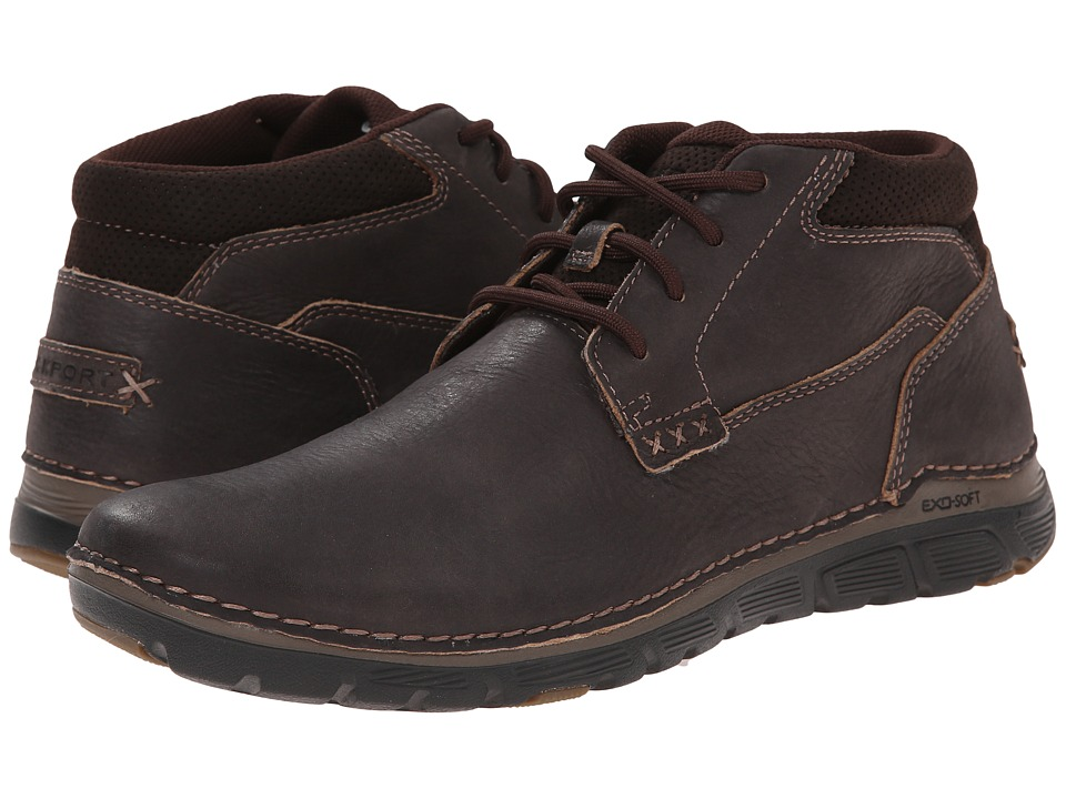 Rockport - Zonecush Rocsports Lite Plain Toe Boot (Bitter Chocolate Tumbled) Men