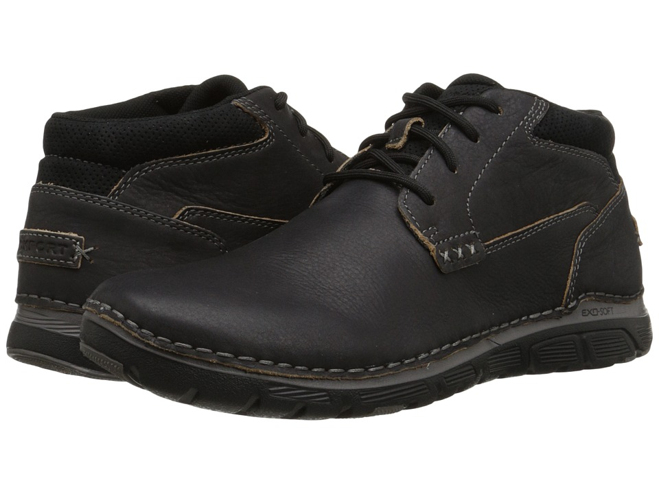 Rockport Zonecush Rocsports Lite Plain Toe Boot (Black Tumbled) Men