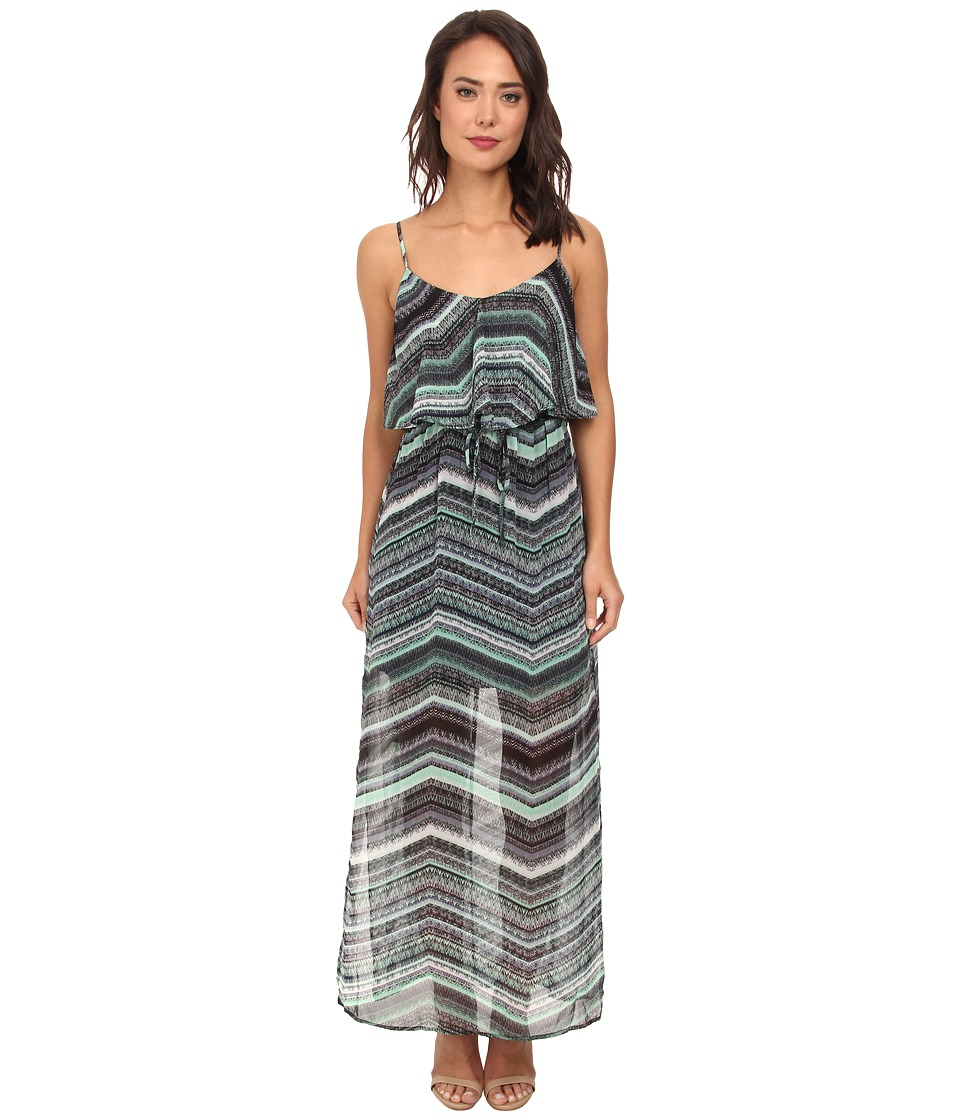 Gabriella Rocha - TinaLou Print Chiffon Maxi Dress (Mint/Black) Women's Dress