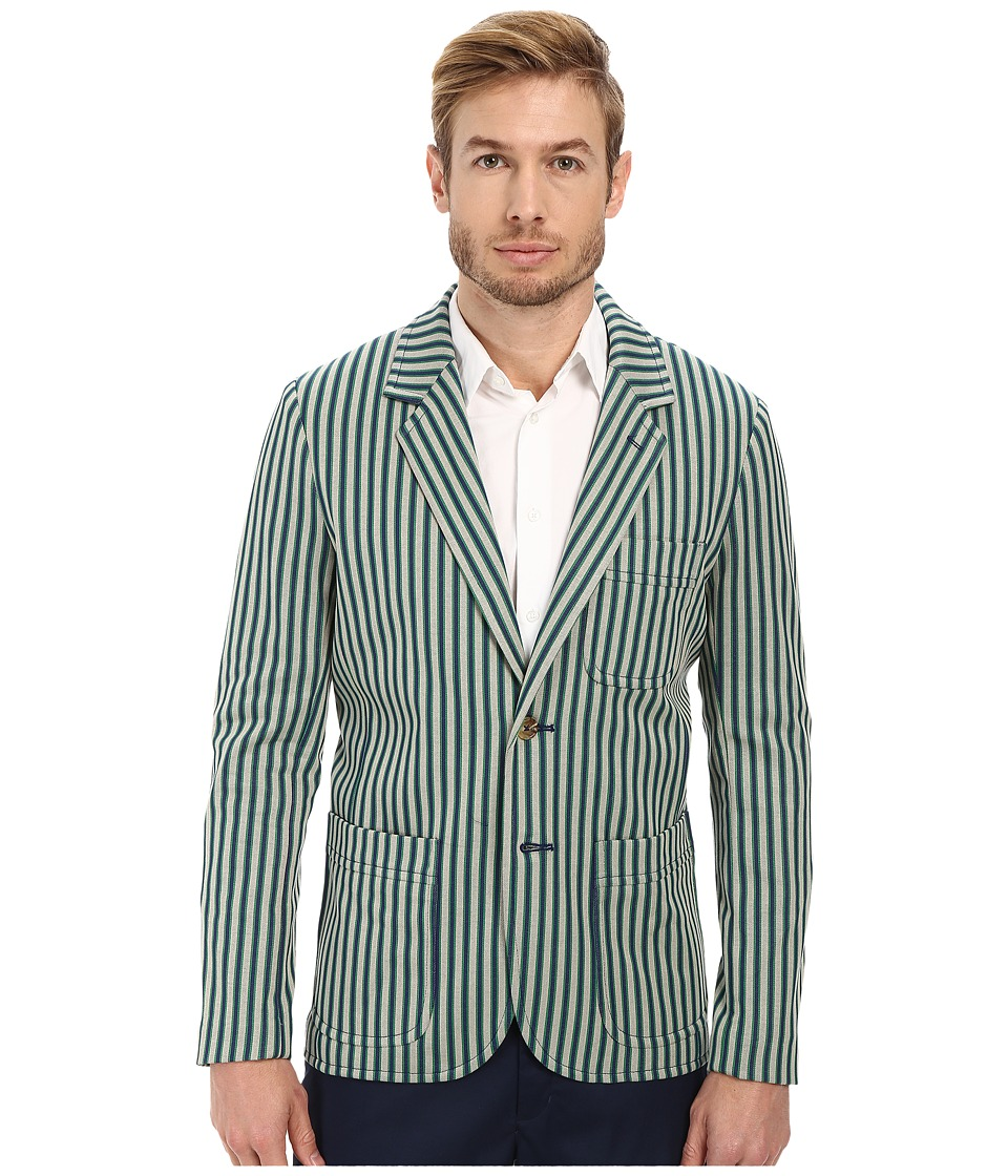 Mr.Turk - Denny Blazer (Green Stripe) Men's Jacket