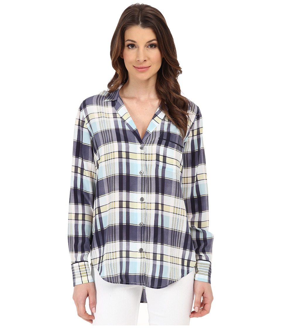 EQUIPMENT - Keira (Dusty Blue) Women's Long Sleeve Button Up