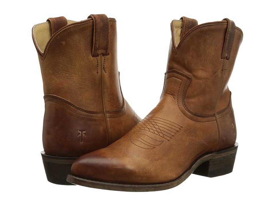 Frye - Billy Short (Cognac Washed Antique Pull Up) Women's Pull-on Boots