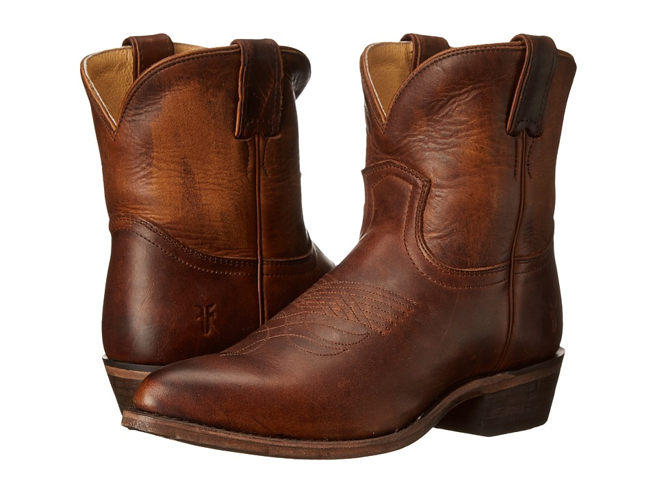 Frye - Billy Short (Dark Brown Washed Antique Pull Up) Women's Pull-on Boots