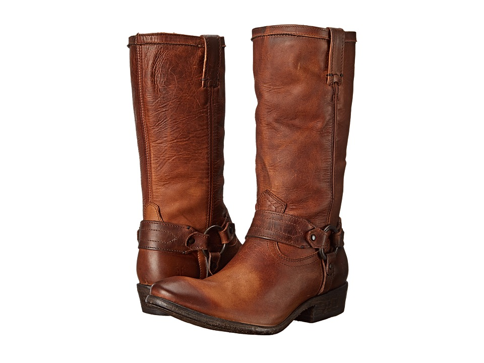 Frye - Carson Harness (Cognac Washed Antique Pull Up) Women's Pull-on Boots