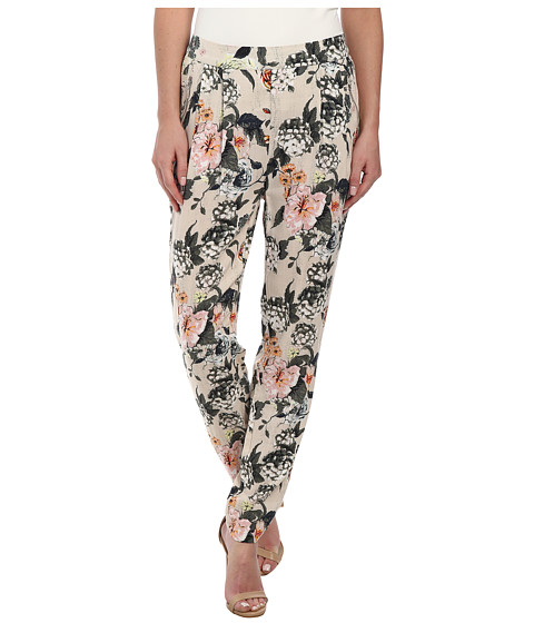 ONLY - Trixie Flower Loose Pants (Pumice Stone) Women's Casual Pants