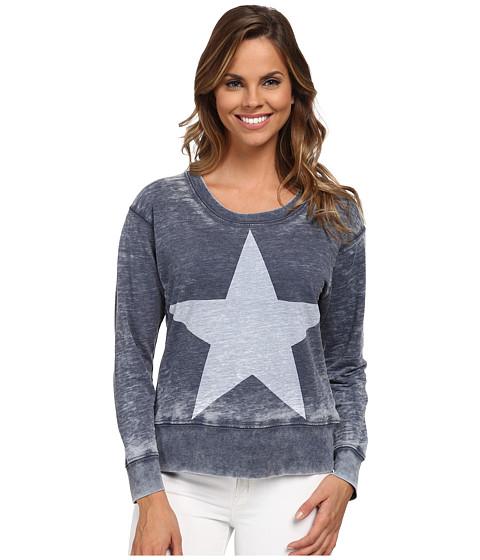 Allen Allen - Star Sweatshirt (Lapis) Women's Sweatshirt