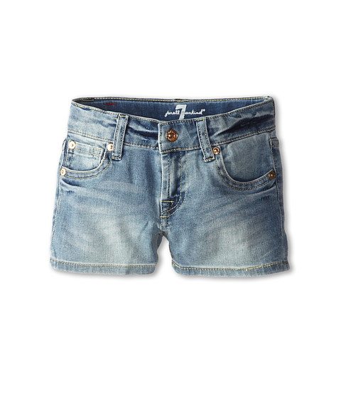 7 For All Mankind Kids - Faded Blue Shorts in 3 Illusion (Little Kids) (3 Illusion) Girl's Shorts