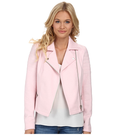 ONLY - Allison Wool Biker Jacket (Barely Pink) Women