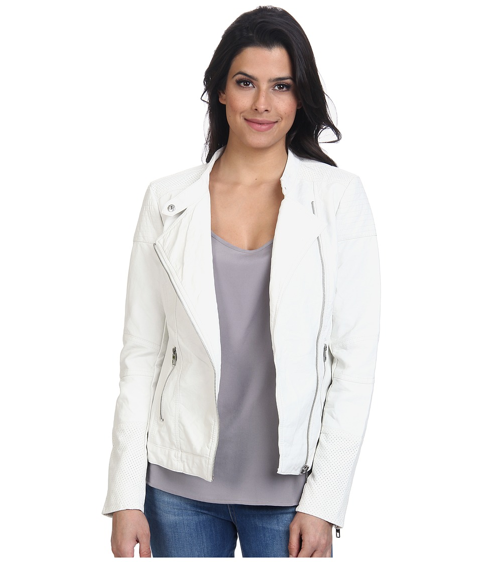 ONLY - Lounge Biker Jacket (White Alyssum) Women's Coat