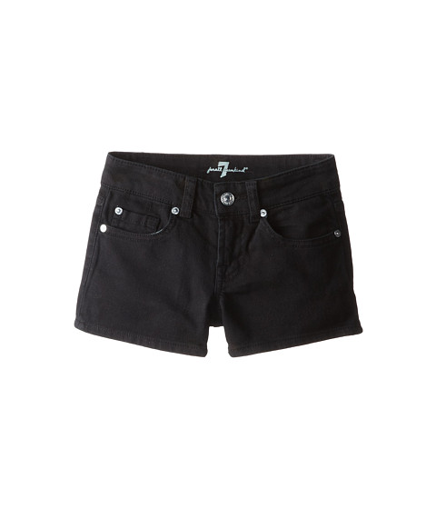 7 For All Mankind Kids - Shorts in Black Out (Big Kids) (Black Out) Girl