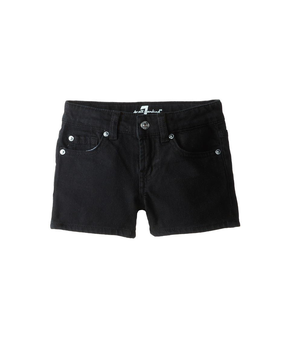 7 For All Mankind Kids - Shorts in Black Out (Little Kids) (Black Out) Girl