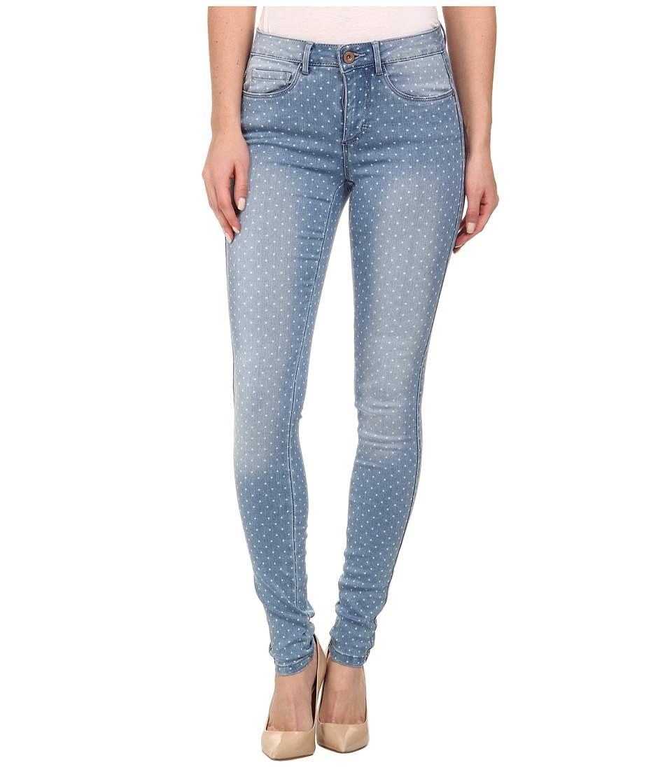 ONLY - Royal Dotted Skinny Jeans (Light Blue) Women's Jeans