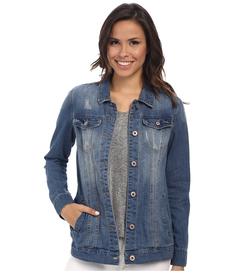 ONLY - Winnie Denim Jacket (Medium Blue Denim) Women's Jacket