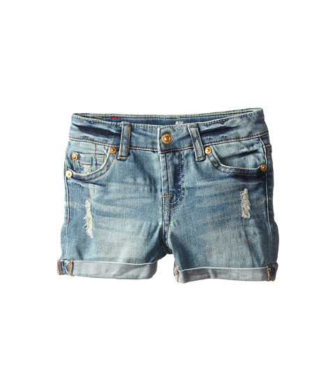 7 For All Mankind Kids - Mid-Roll Shorts in Absolute Heritage (Toddler) (Absolute Heritage) Girl's Shorts