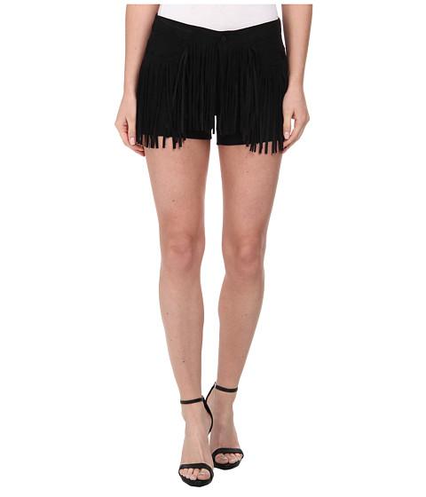 ONLY - Fringe Shorts (Black) Women