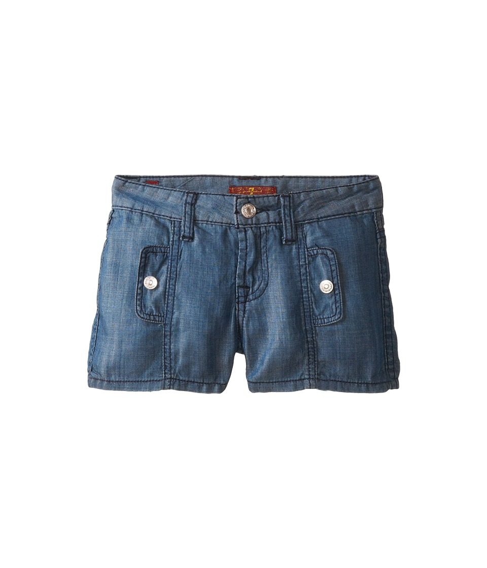 7 For All Mankind Kids - Shorts in Chambray (Big Kids) (Chambray 2) Girl's Shorts