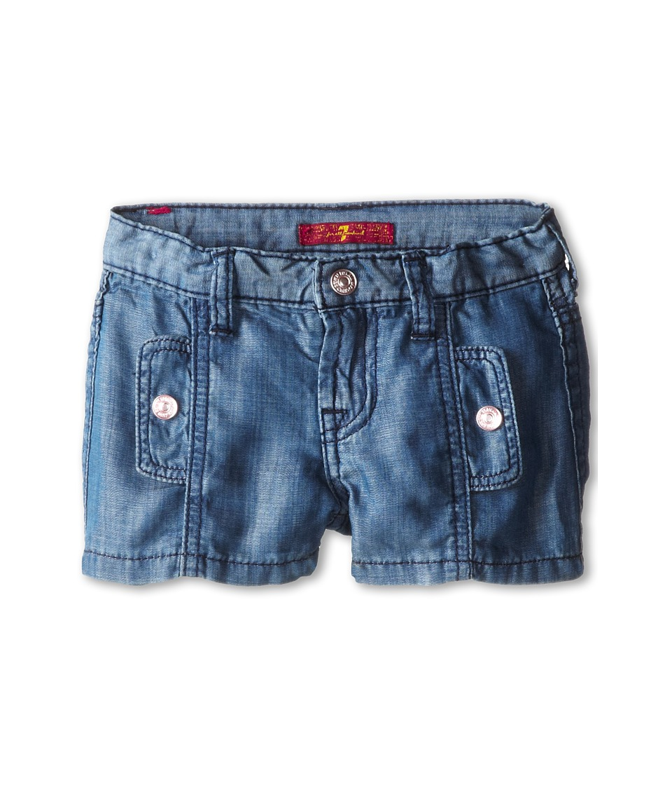 7 For All Mankind Kids - Shorts in Chambray (Little Kids) (Chambray 2) Girl