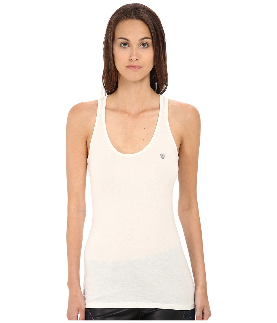 Philipp Plein - Jackie Tank Top (White) Women's Sleeveless