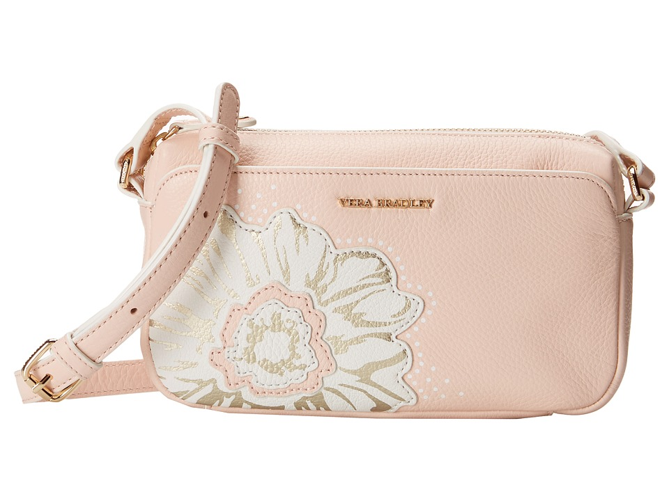Vera Bradley - La Fleur Sydney Crossbody (Blush) Cross Body Handbags