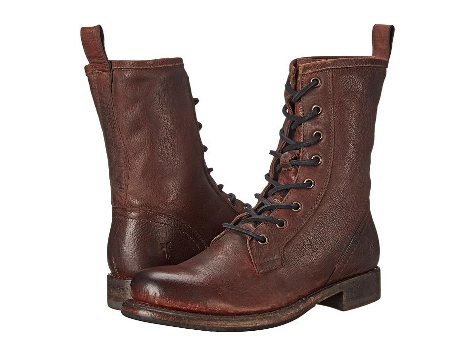 Frye - Jenna Combat (Dark Brown Stone Antiqued) Women's Boots