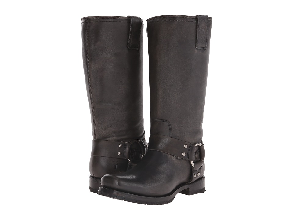 Frye Heath Harness (Black Calf Shine Vintage) Women