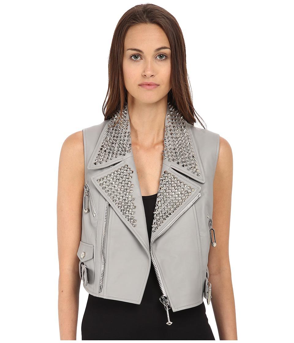 Philipp Plein - Leather Vest (Grey) Women