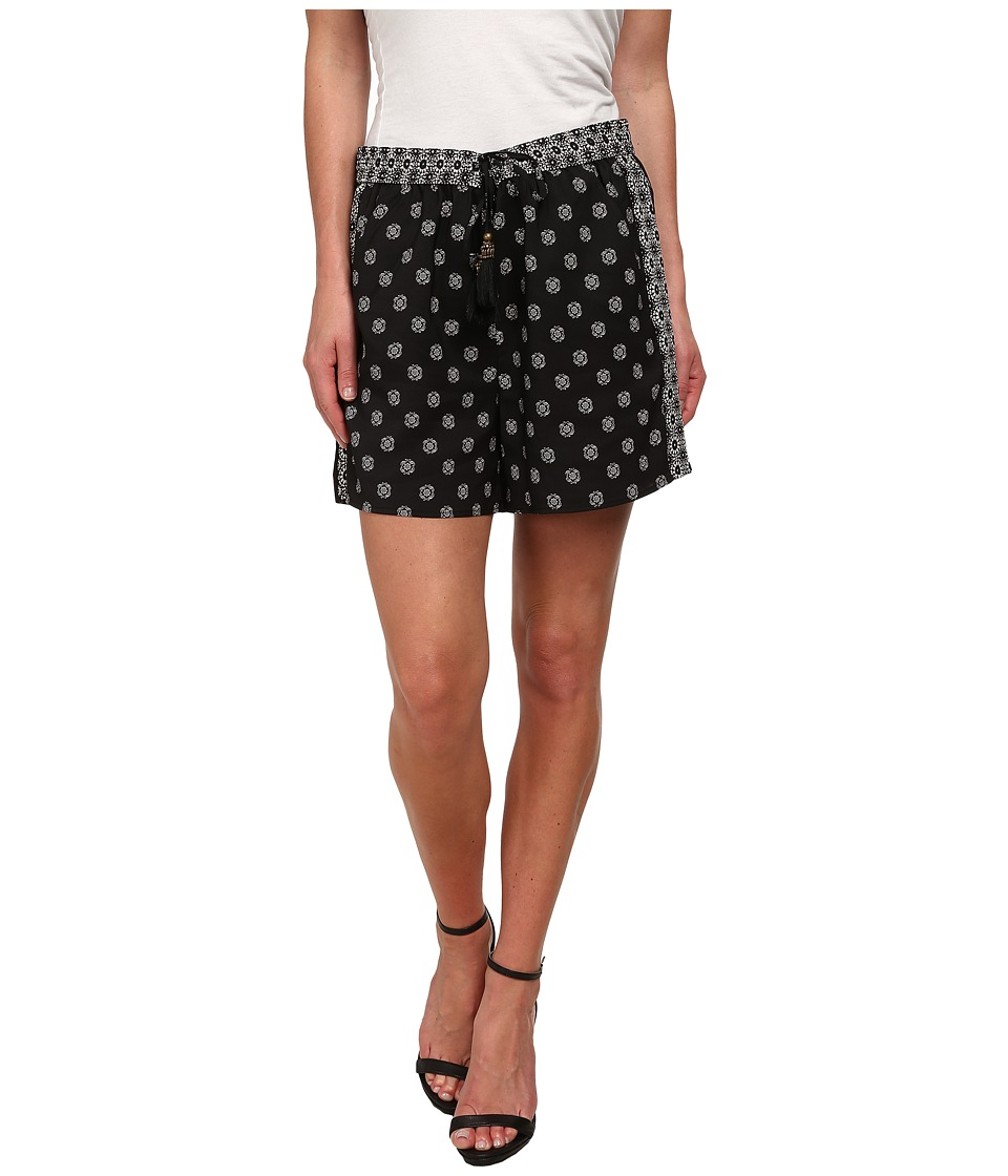 Vince Camuto - Heritage Medallion Drawstring Shorts (Rich Black) Women's Shorts
