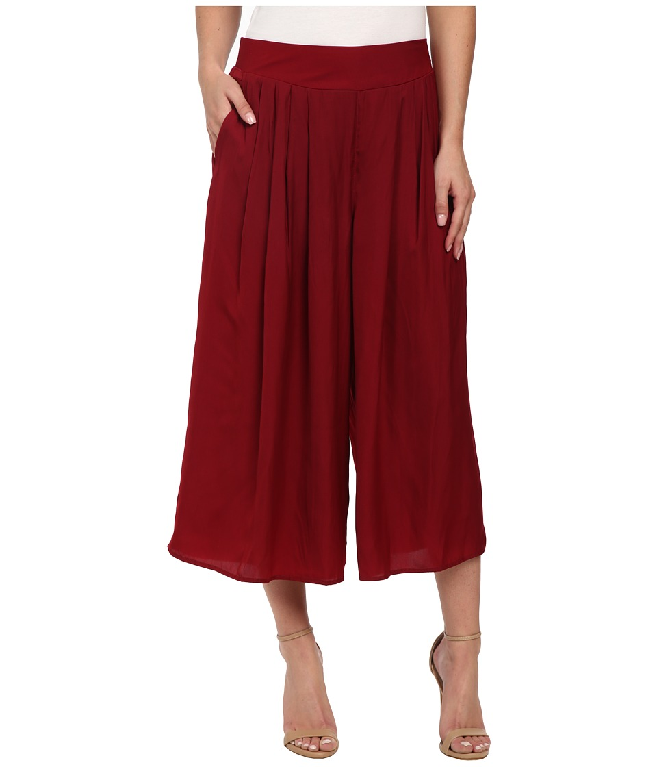 Vince Camuto - Wide Leg Rumple Pants (Red Velvet) Women's Casual Pants