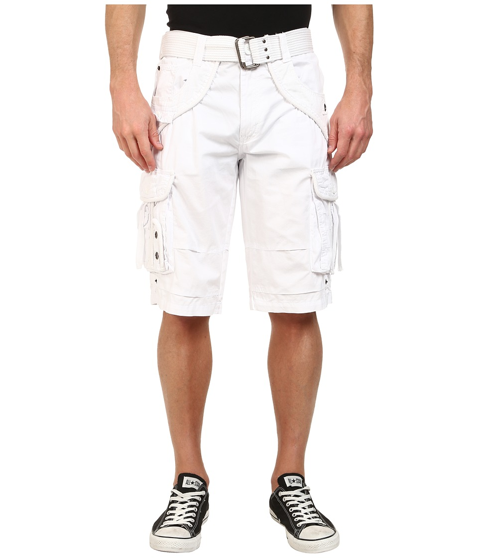 Request - Jonah Cargo Shorts (White) Men