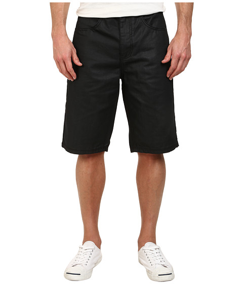 Request - Garrison Denim Shorts (Black Coated) Men
