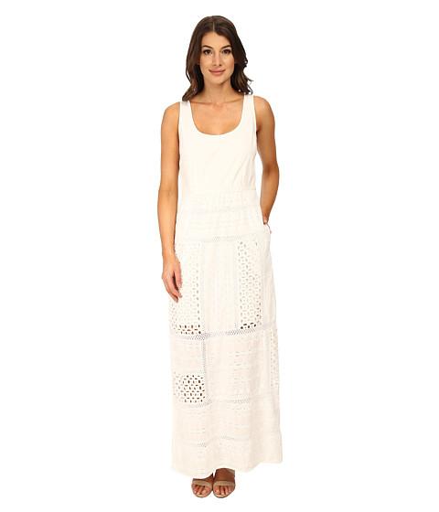 Adrianna Papell - Sleeveless Maxi with Eyelet Skirt (White) Women