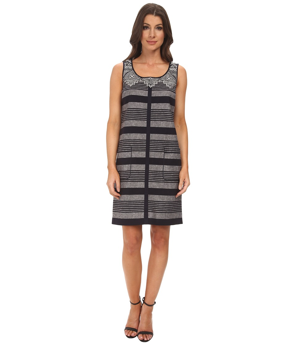 Adrianna Papell - Sleeveless Sheath Dress with Oversized Pockets (Galaxy) Women