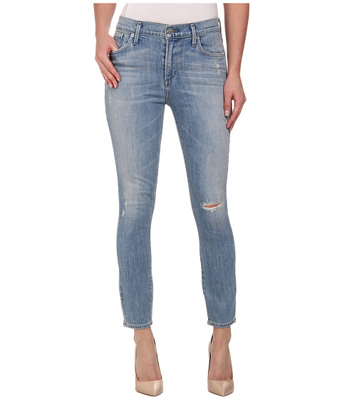 A Gold E - Sophie Crop in Blue Lagoon (Blue Lagoon) Women's Jeans