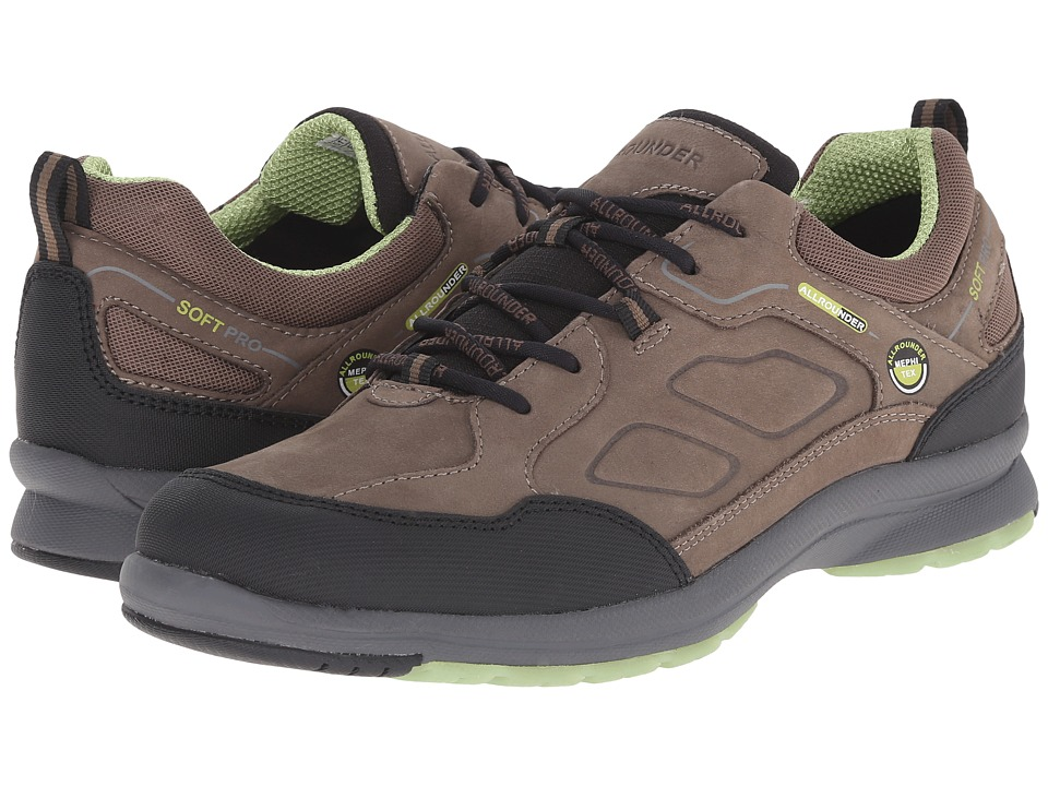 Allrounder by Mephisto - Dascha Tex (Black Rubber N/Fog G Nubuck) Women's Lace up casual Shoes