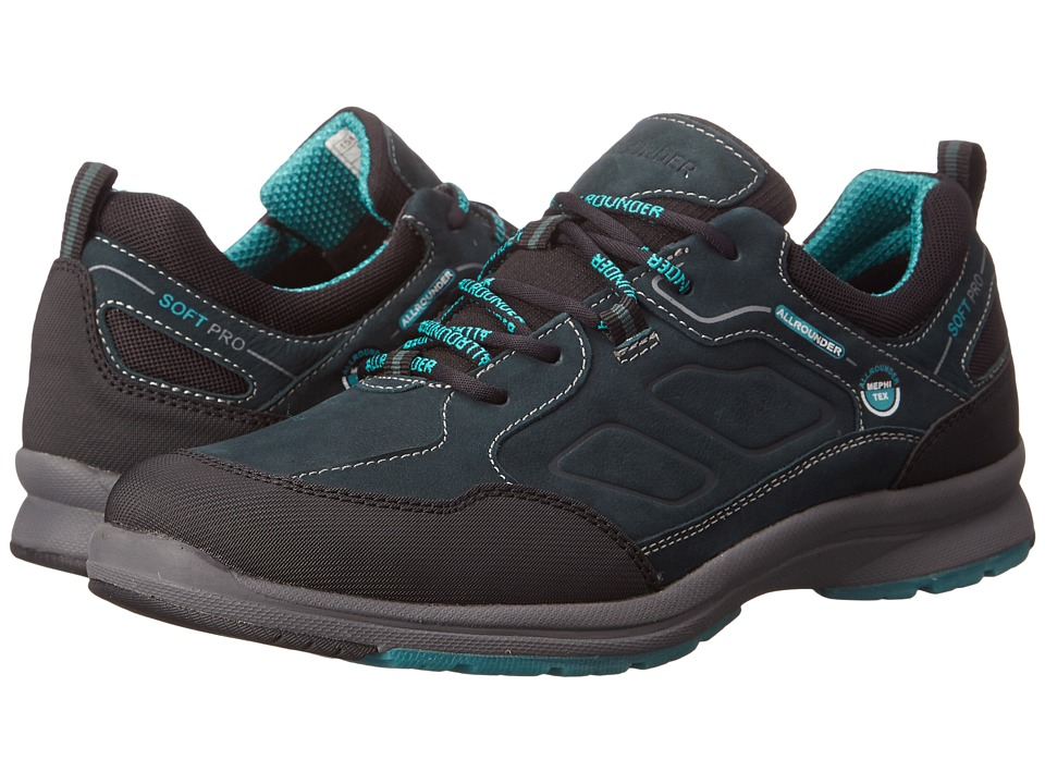 Image of Allrounder by Mephisto - Dascha Tex (Black Rubber/Dark Olive Petroleum G Nubuck) Women's Lace up casual Shoes
